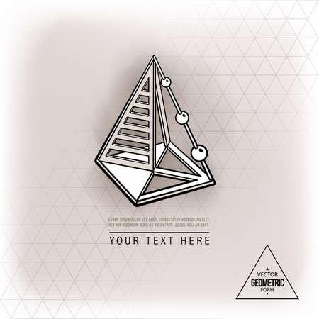 Vector geometric figure pyramid design Vetores