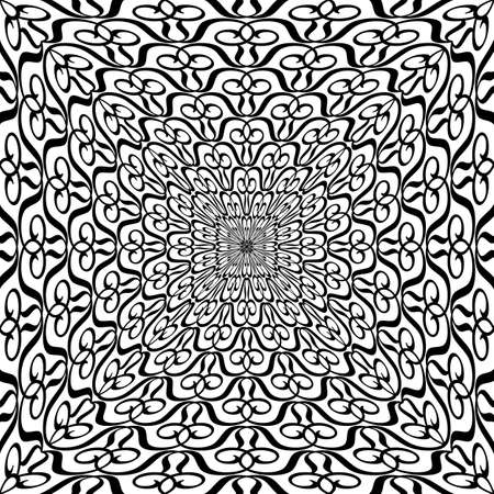 Vector rhythmic geometric elements pattern