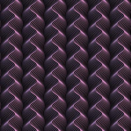 Waves background with distortion effect Vektorové ilustrace