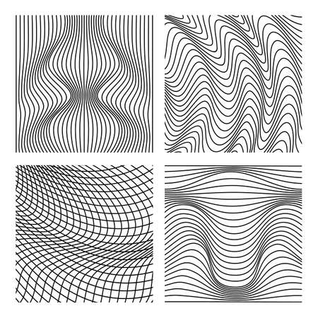 Vector abstract line patterns set. 向量圖像