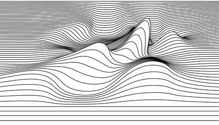 Vector abstract lines illustration. Çizim