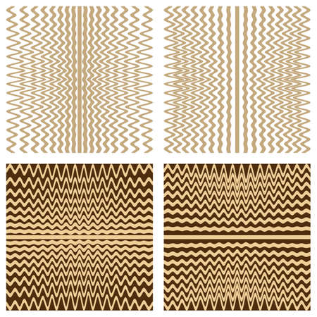 Vector set with rhythmic lines backgrounds.