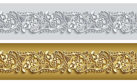 Modern vector ornamental stripe backgrounds set