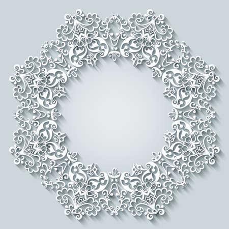 Floral hand drawn vector border. Frame design.