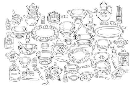 Home Cooking vector illustration Vector Illustratie