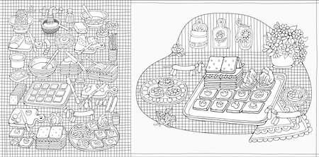 Home Cooking Still life vector illustration Vektorgrafik
