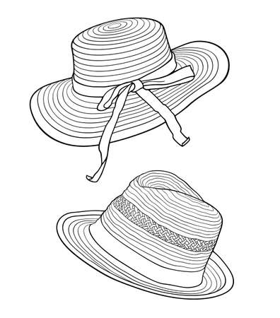 Hand drawn Hat cartoon vector Illusztráció