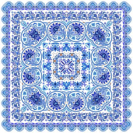Vector floral ethnic ornamental illustration