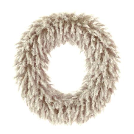 3d wild animal fur letter O