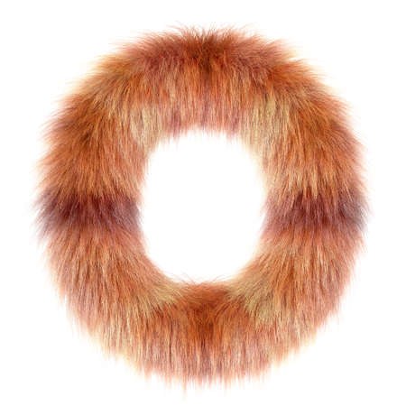 3d Fox cartoon funny creative fur letter O Imagens