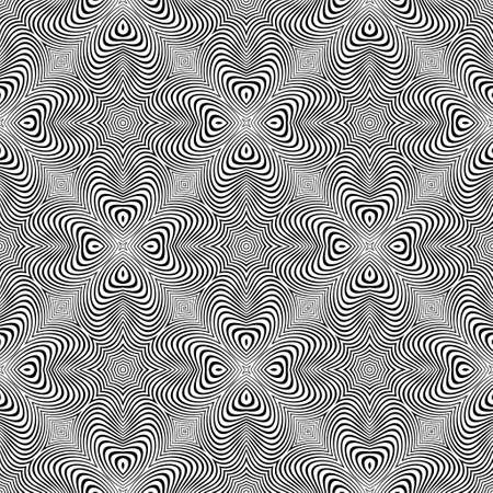 Raster abstract lines pattern. Waves background