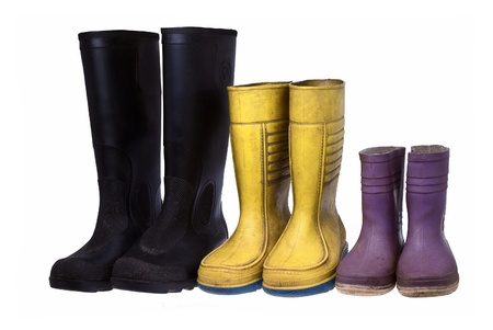 Old rubber boots photo