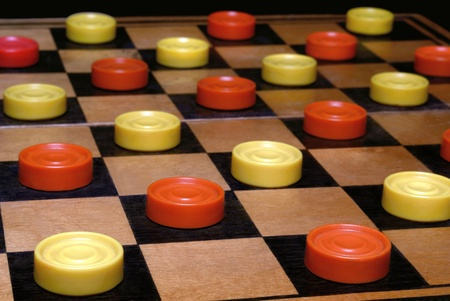 draughts: Russian draughts. A board game
