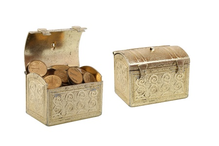 Two chests with coins photo