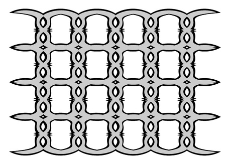 figured: Figured lattice. Abstract pattern Stock Photo