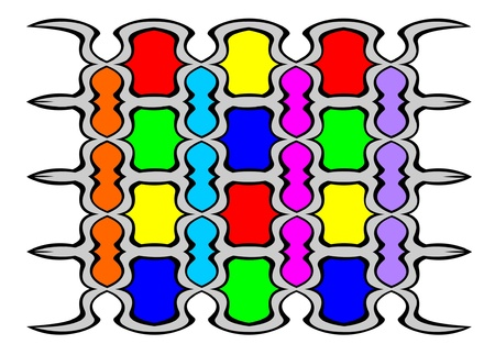 bstract pattern stylized under a stained-glass window Stock Vector - 15239175