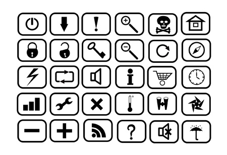 Set of icons for WEB Stock Vector - 15522228