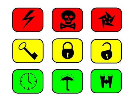 informant: Set of information icons Illustration