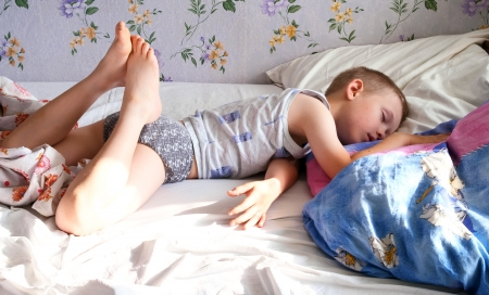 has been: Morning dream of the child Stock Photo