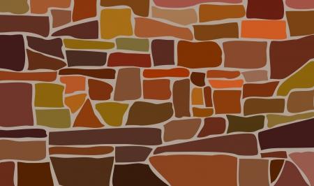 stonework: Stone laying. Abstract background  Illustration