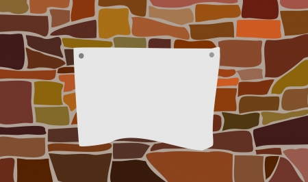 The announcement on a brick wall  Stock Vector - 16186333