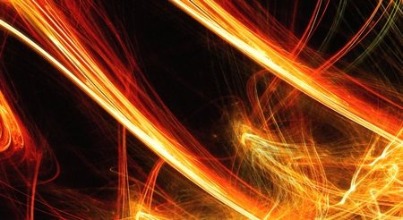 prominence: Fiery extravaganza  Golden fractal abstract background Stock Photo