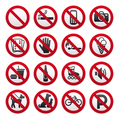 Prohibited Signs Stock Vector - 8922600