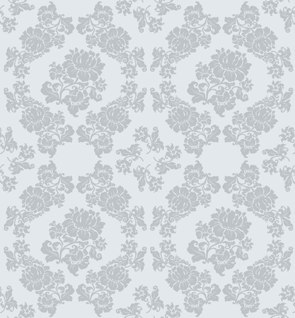 Seamless ornament floral, gray Vector