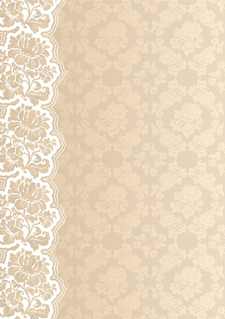 Flower background with lace Illustration