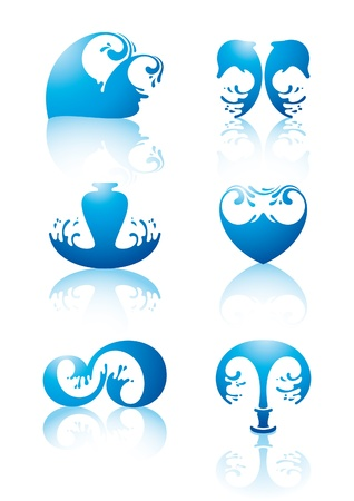 Symbols of water Vector