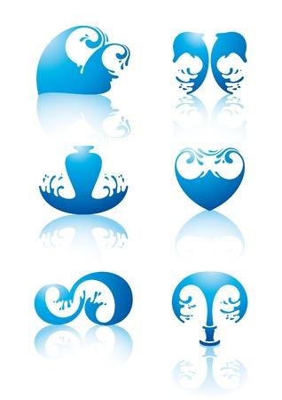 Symbols of water Stock Vector - 9120662