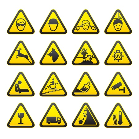 Warning Safety Signs Set Stock Vector - 9120670