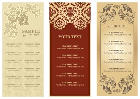 Vector Restaurant menu, ornament, flowers Vector