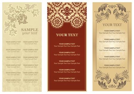 Vector Restaurant menu, ornament, flowers