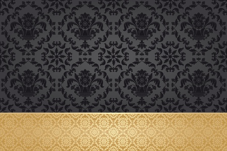 antique wallpaper: Seamless wallpaper pattern design elements Illustration