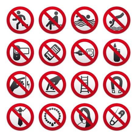 interdiction: Signes interdites Illustration