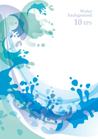 Water background 10 EPS Vector