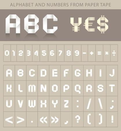 czcionki: ABC czcionki z papierowej taÅ›mie