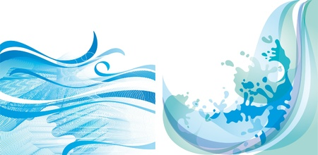 Water background design element 10 EPS Vector