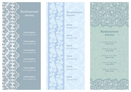 Restaurant menu, ornament-flowers background Vector