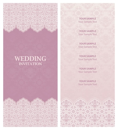 vintage weaving: wedding invitation, ornament-flowers background