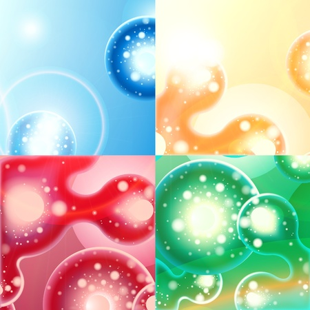abstract background green blue red orange 10eps Stock Vector - 9293162