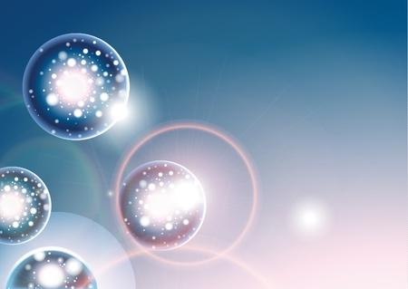 extraterrestres: 10eps de elemento de dise�o de fondo abstracto azul Vectores