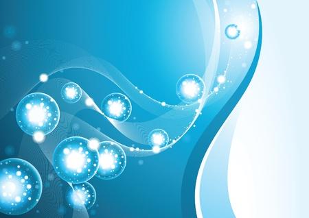 irrigation: Background Light under Water - blue