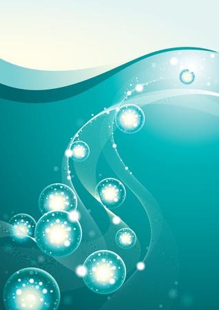 mildew: Background Light under Water Illustration