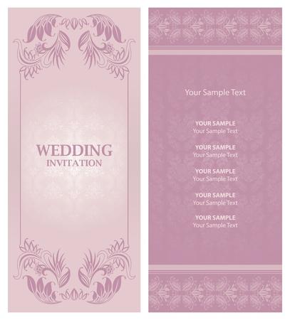 curls: wedding invitation background
