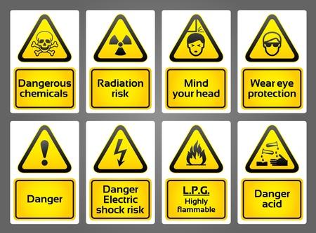achtung schild: Warnung Zeichen labes Illustration