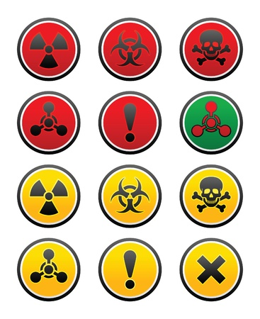 general warning: symbols of hazard Illustration
