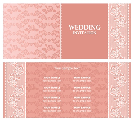 Wedding invitation - template Stock Vector - 9548620