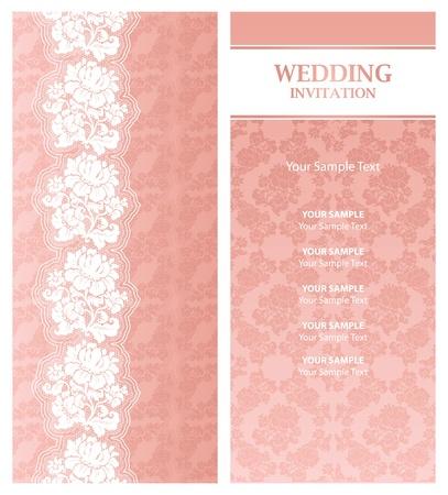 Wedding invitation, template Vector